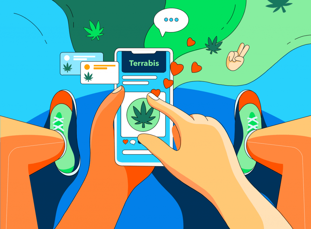 how cannabis fits into social media